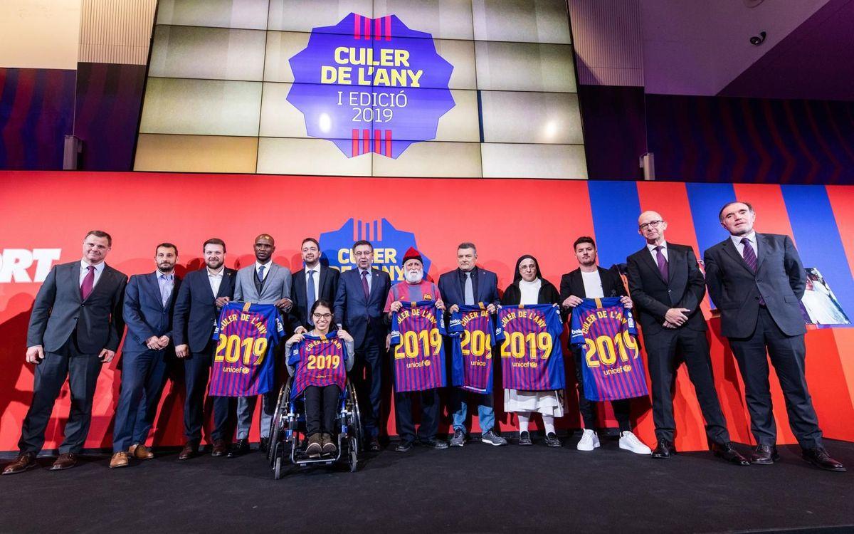 Éric Abidal rep el I Premi Culer de l'Any