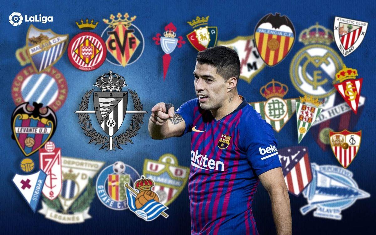 El Valladolid, el último reto goleador de Suárez