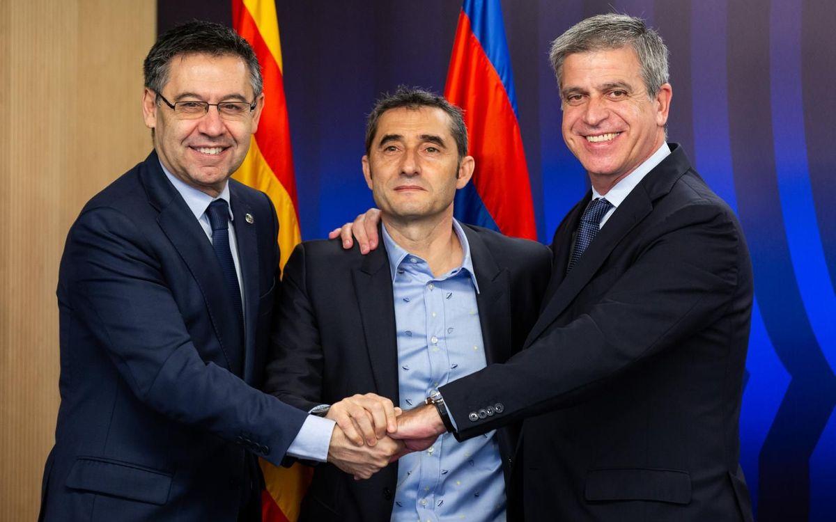 Renovació del contracte d'Ernesto Valverde amb el FC Barcelona - GERMÁN PARGA