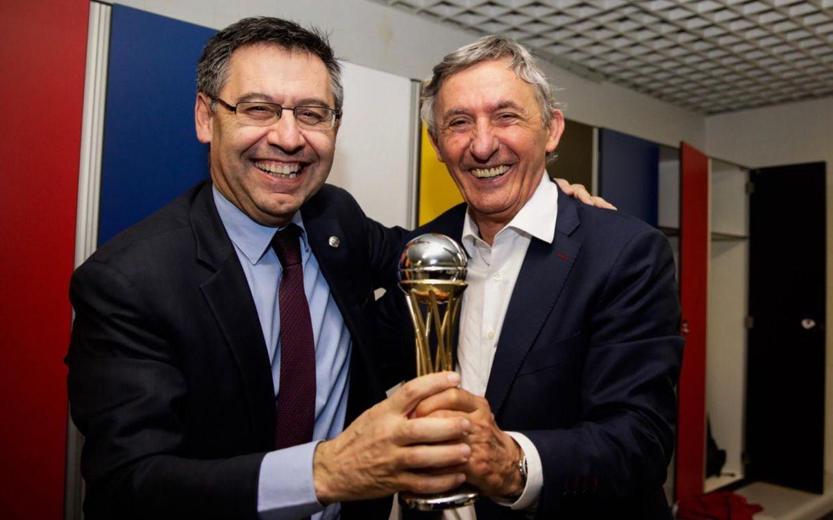 Bartomeu i Pesic, amb la Copa 2019