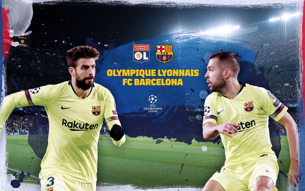 Cuándo y dónde ver el Olympique de Lyon - FC Barcelona