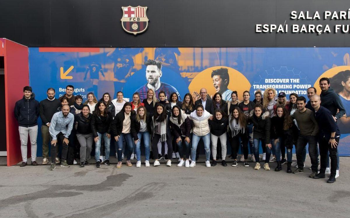 El Femenino descubre la labor de la Fundación Barça