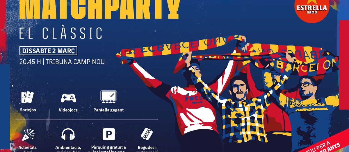 Viu el Clàssic de Lliga a la Match Party del Camp Nou
