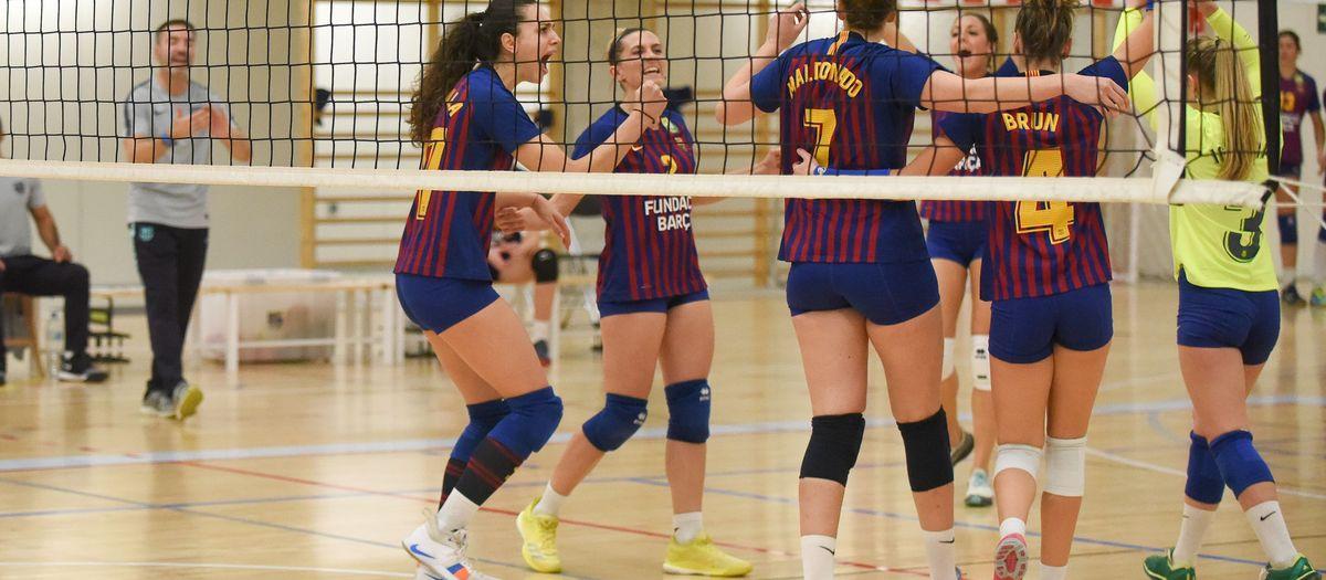 El Barça de voleibol afronta la Copa amb optimisme