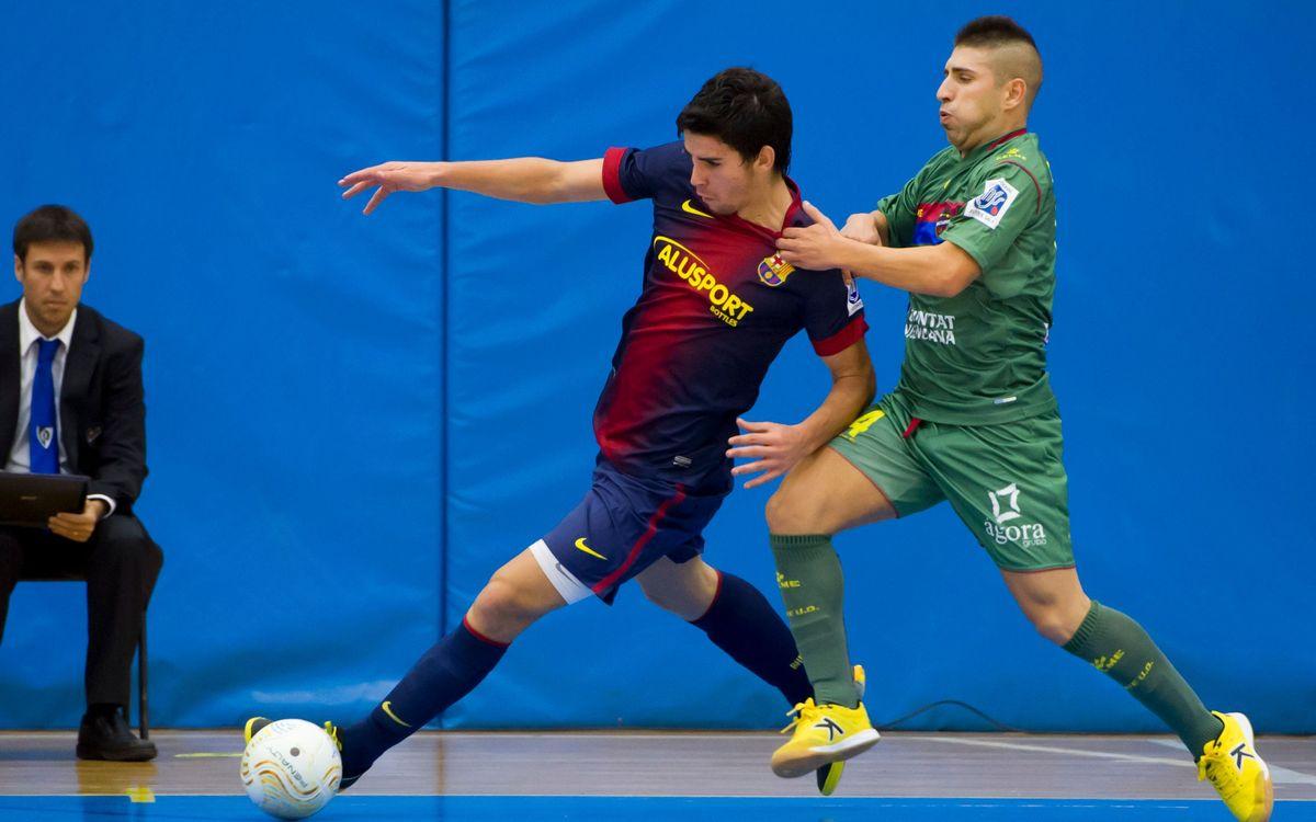 El FC Barcelona Alusport B perd a València (5-1)