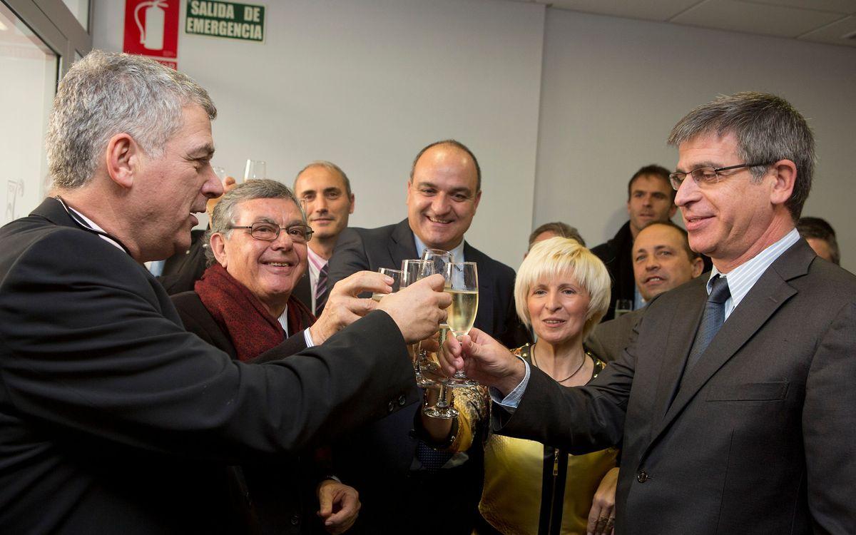Jordi Mestre, en la visita de la nova seu de la Federació Catalana al Baix Llobregat