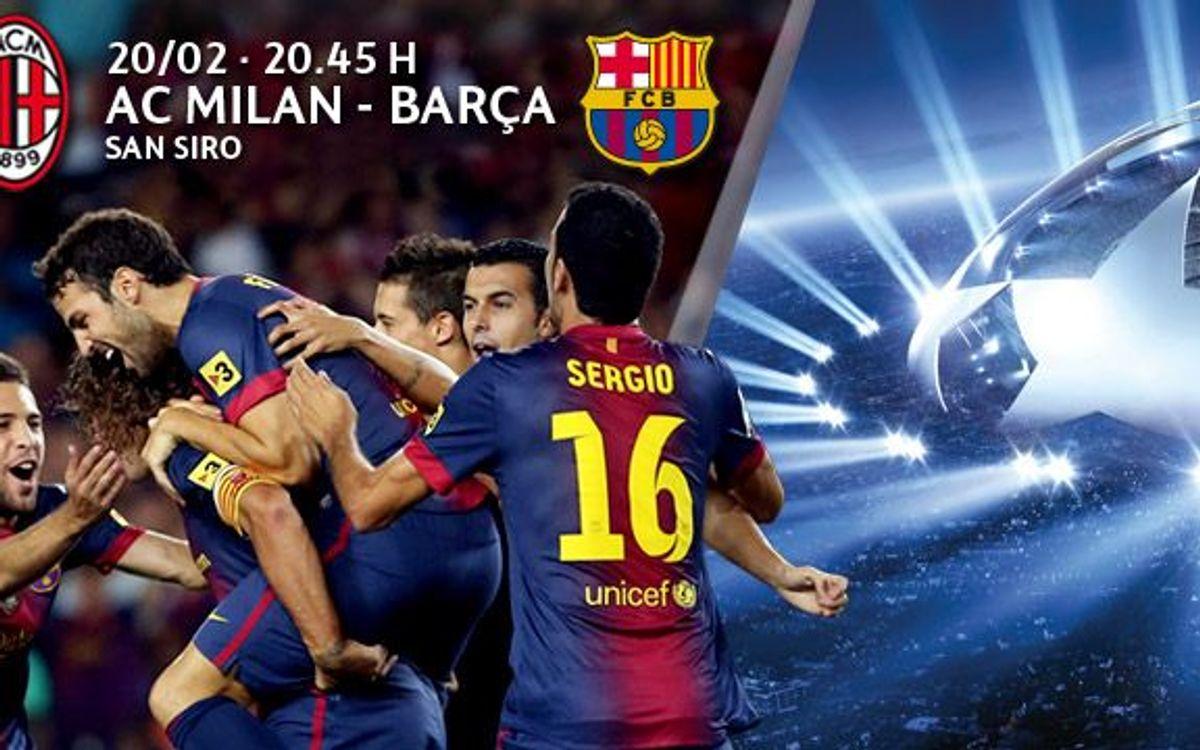 Milan – Barça: tickets from Thursday