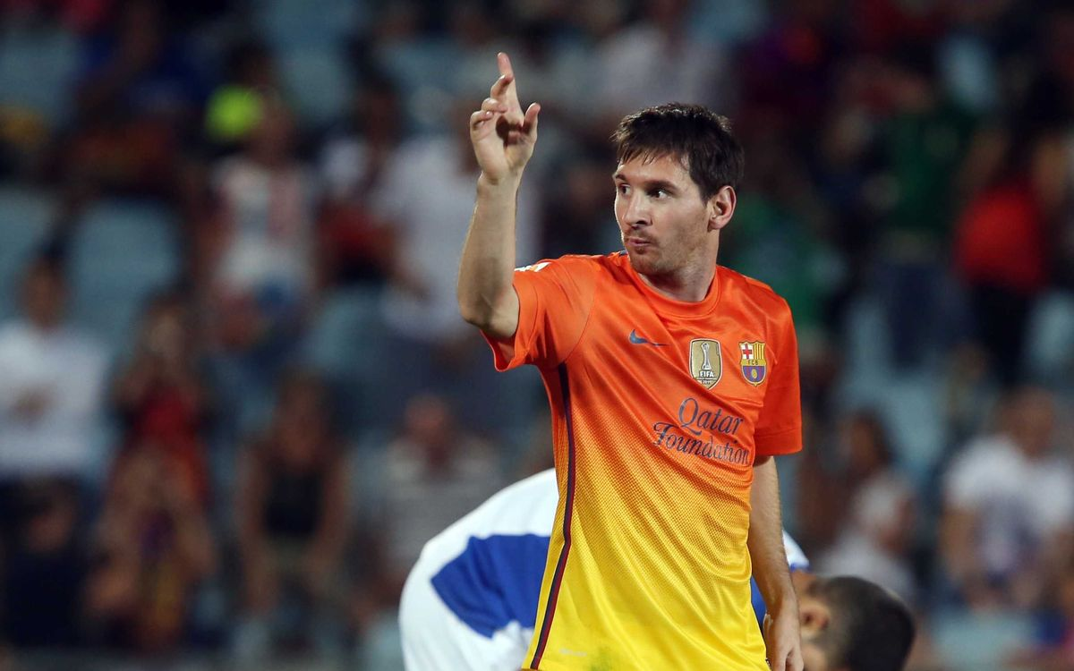 Leo Messi equals his own record, scoring in 10 straight games