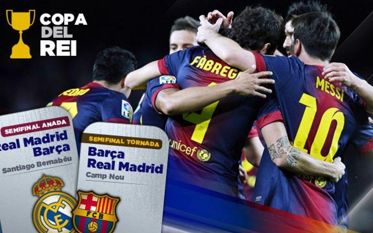 Madrid v Barça in Cup semi finals