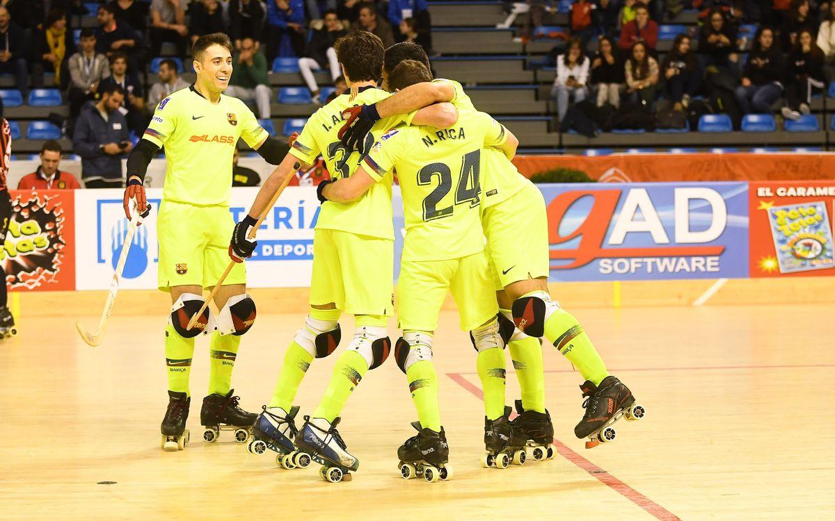Barça Lassa - Noia Freixenet: Con paso firme hacia semifinales (4-2)