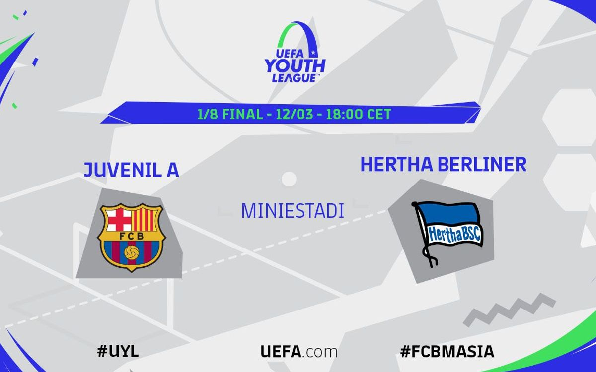 Juvenil A – Hertha, a la UEFA Youth League