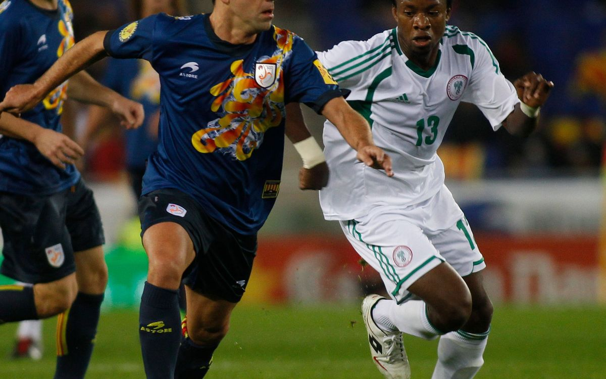 Catalonia, with 9 FC Barcelona players, tie Nigeria (1-1)