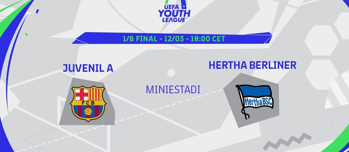 Juvenil A - Hertha, en la UEFA Youth League