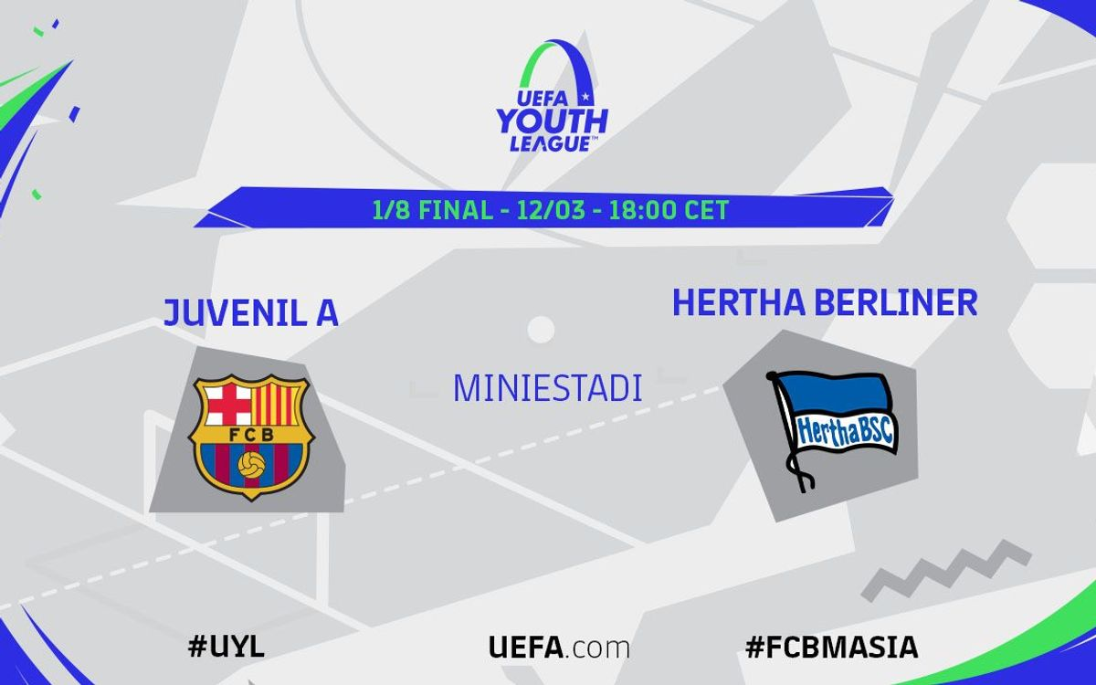 Juvenil A - Hertha, en la UEFA Youth League
