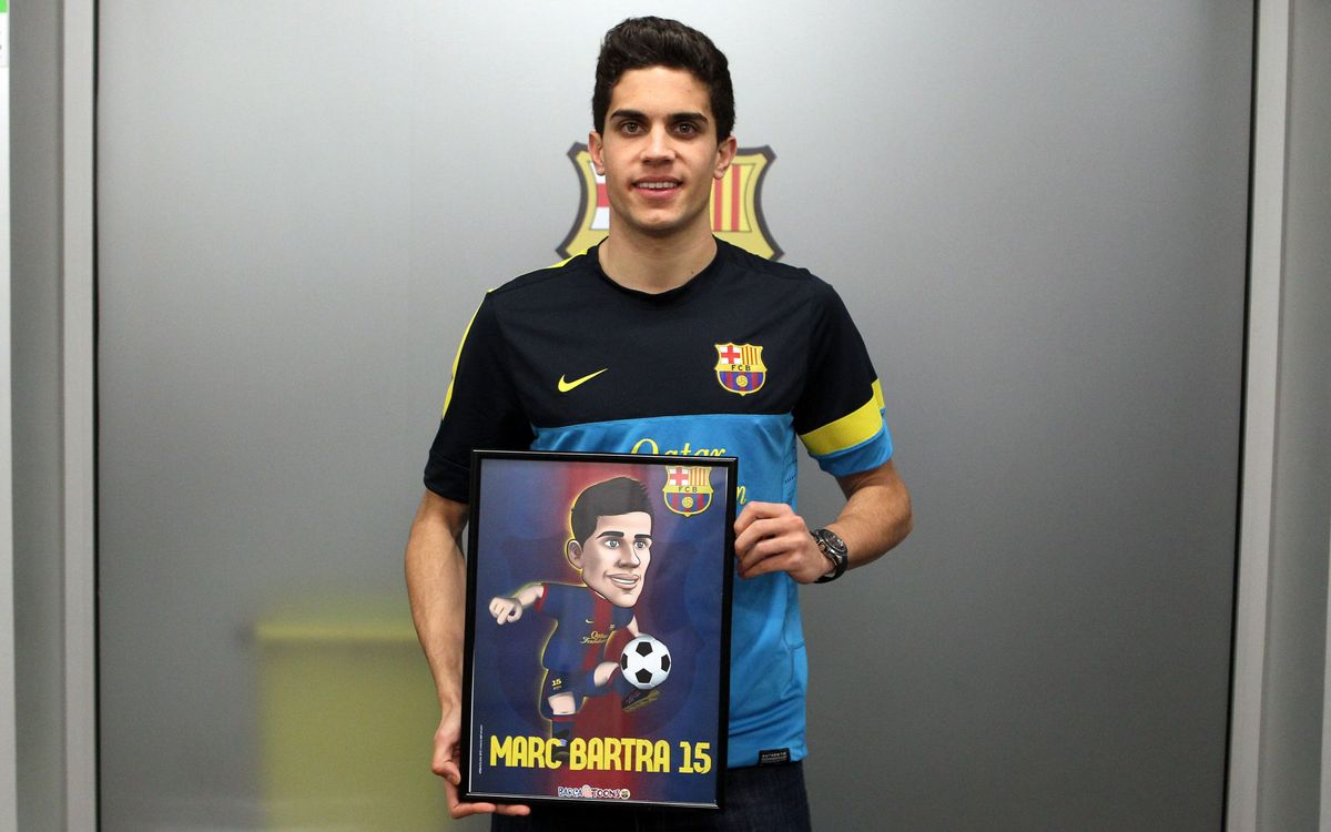 Bartra gets his Barça Toon