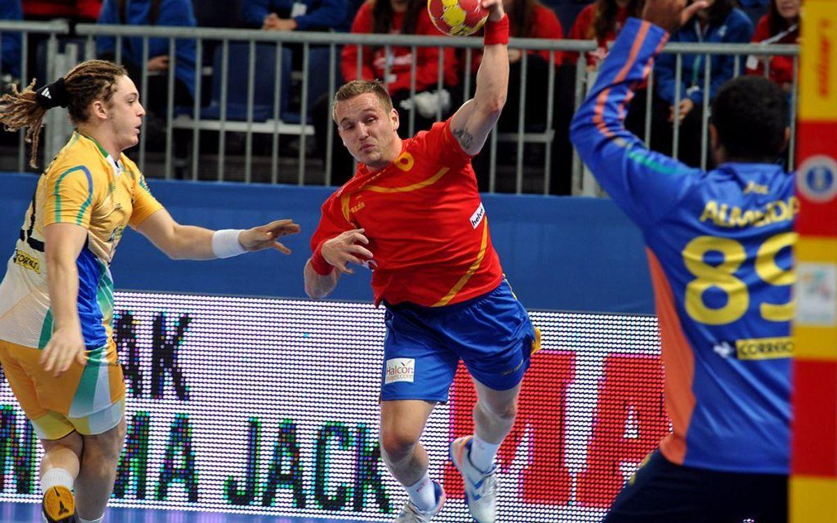 Els set blaugranes de la selecció espanyola d'handbol inauguren el Mundial amb triomf (27-14)