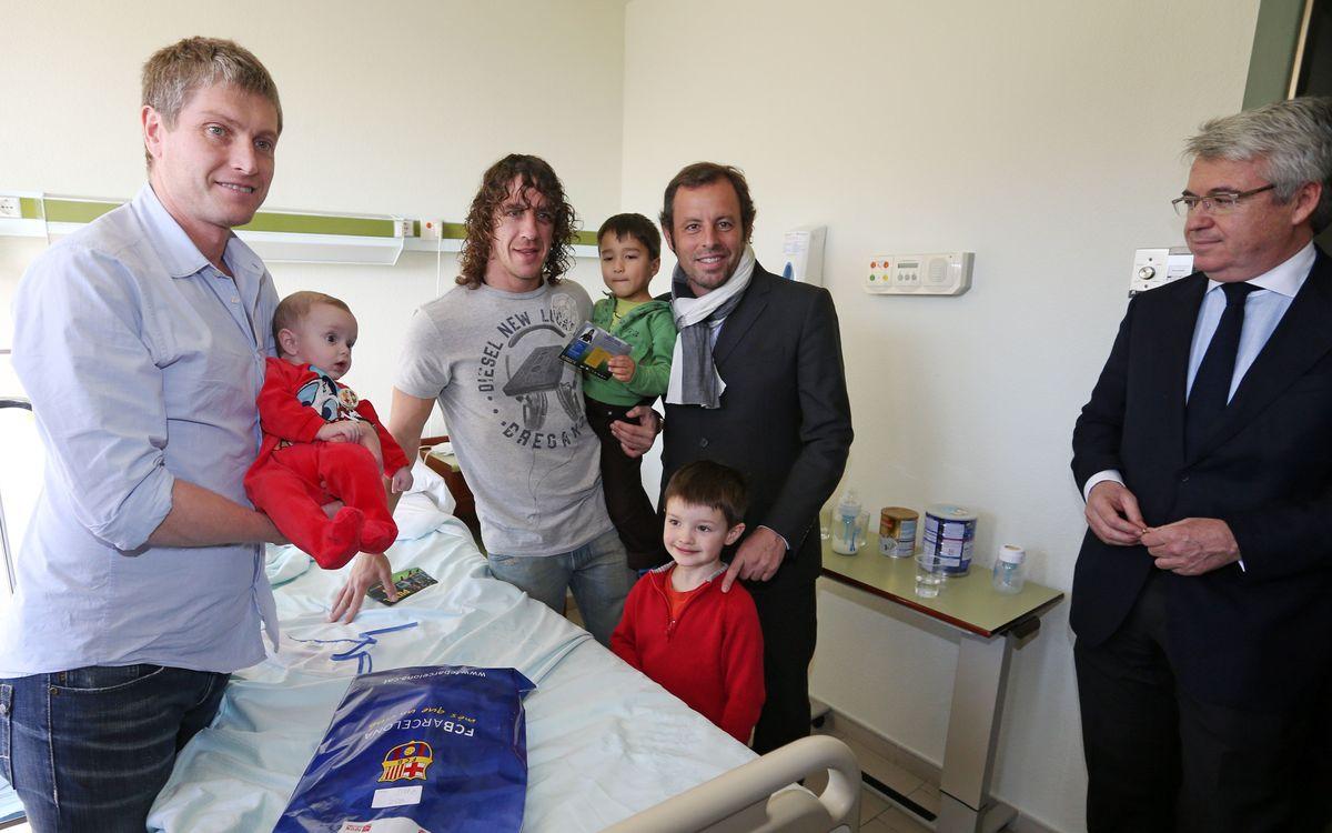 Les joueurs du Barça dans les hôpitaux