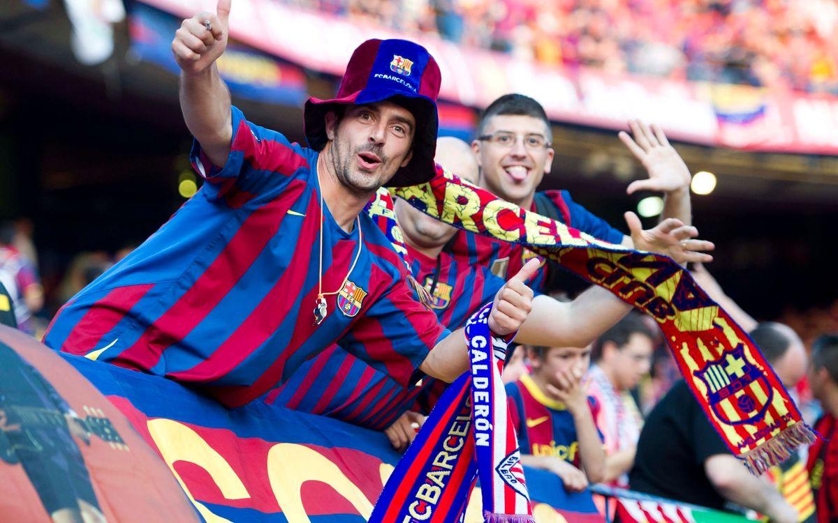 Els socis del Barça demanen 1.961 entrades per anar a Madrid al partit de Copa