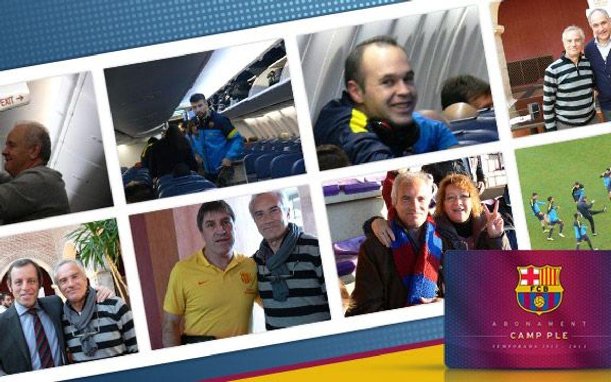 L'Abonament Camp Ple dóna una nova alegria: desplaçament amb l'equip