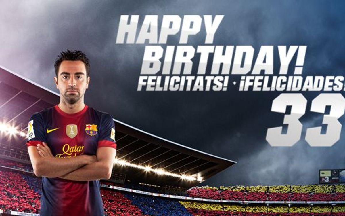Happy birthday Xavi Hernández!