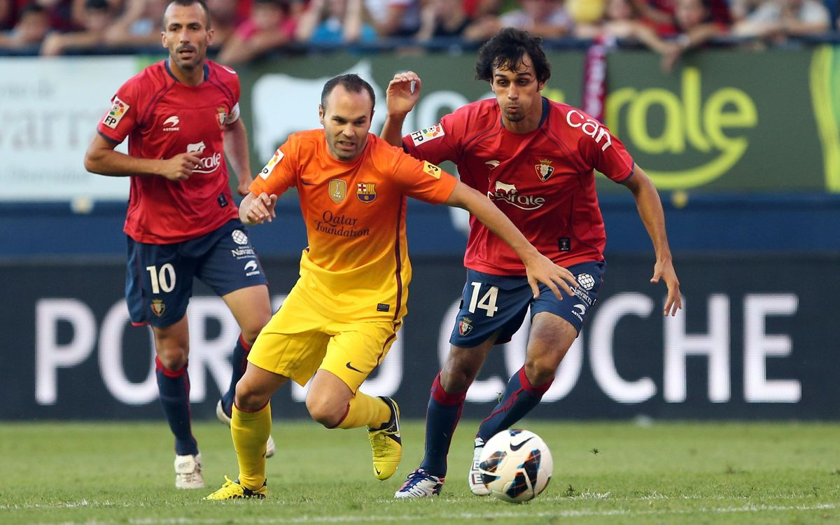 Osasuna v FCB, Saturday October 19 at 20.00