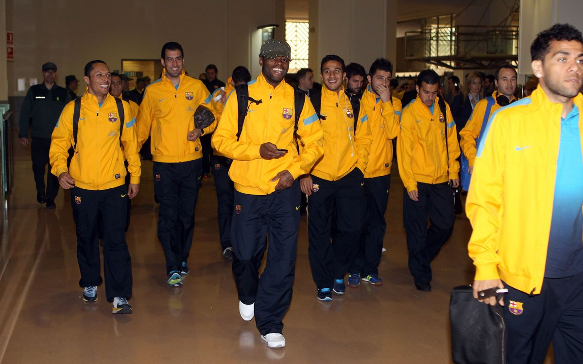 FC Barcelona expedition is already in Málaga
