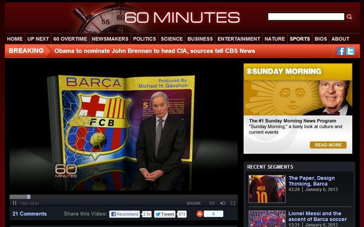 CBS' report on FC Barcelona