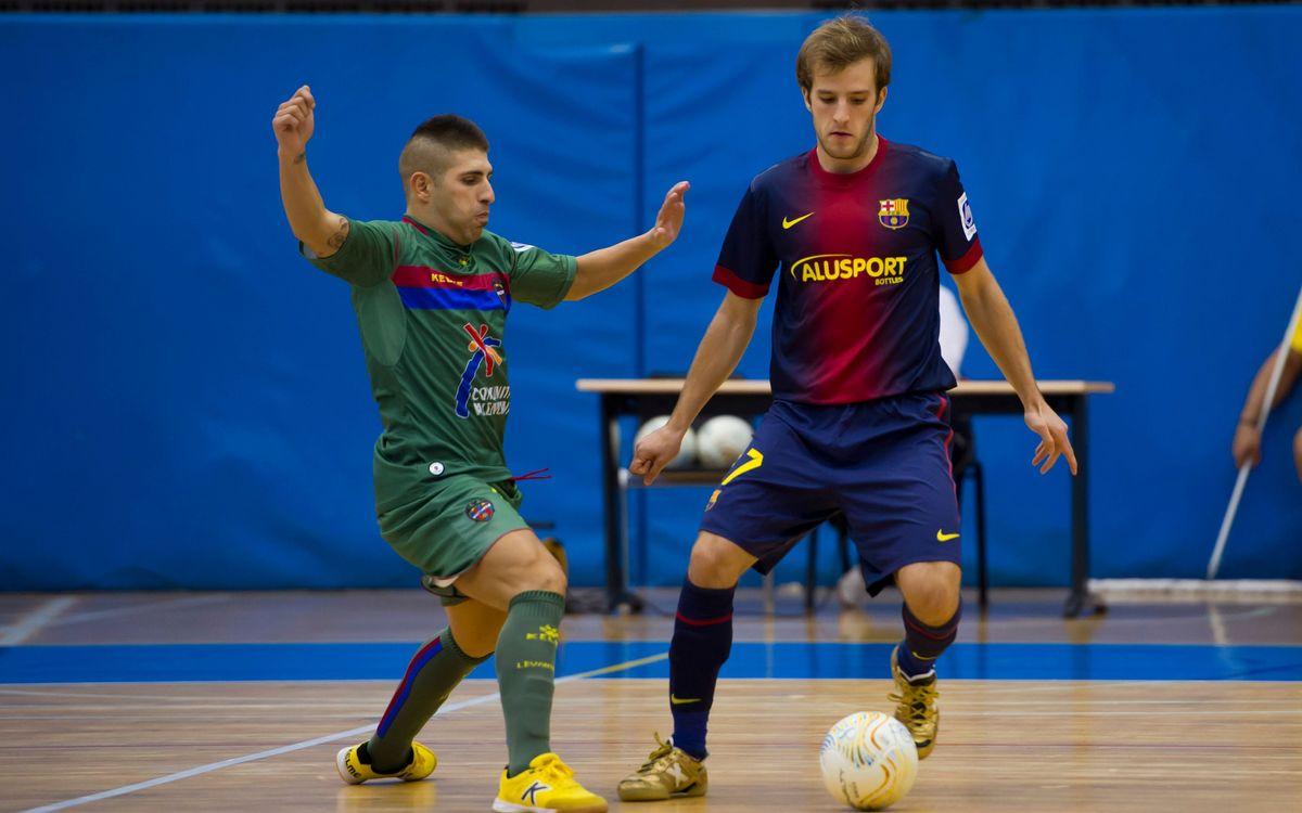 El FC Barcelona Alusport B empata in extremis un partit que estava perdut (4-4)