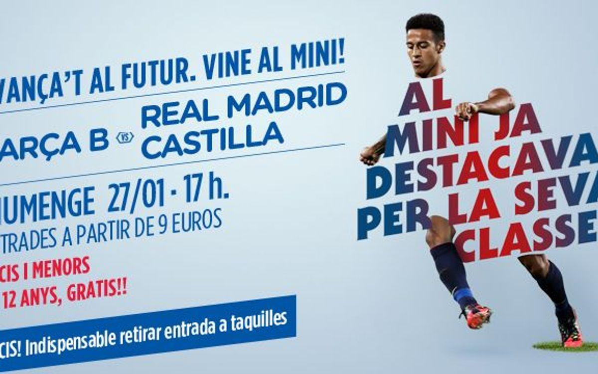 Entrades disponibles per al Barça B-RM Castella