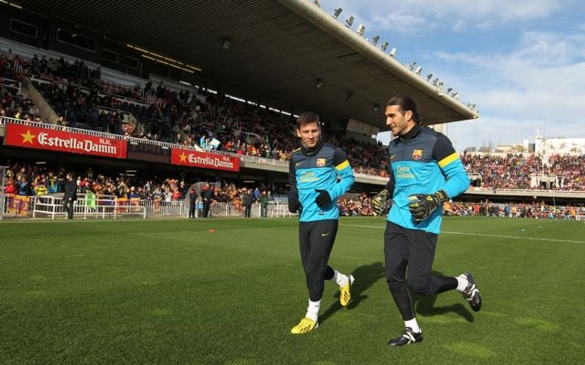 VIDEO - FC Barcelona's open-door training session at the Miniestadi
