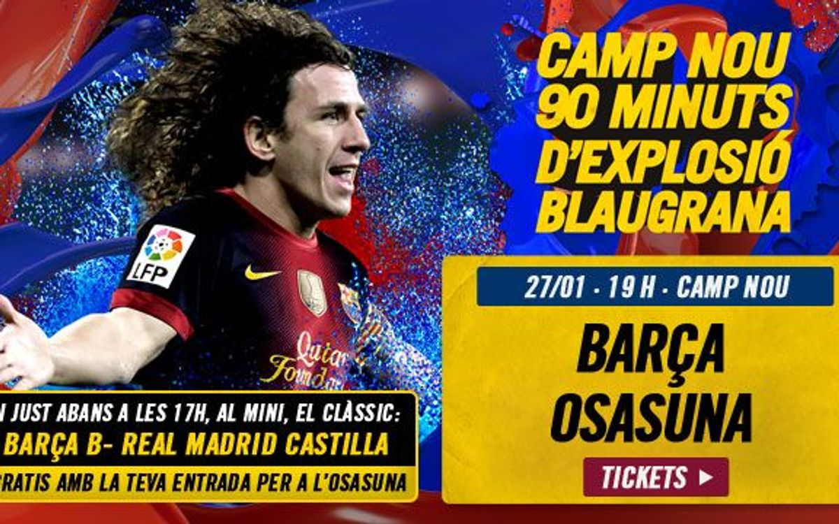 FC Barcelona vs Osasuna, tickets available!