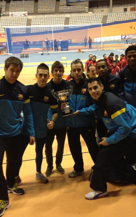 L'equip masculí del FC Barcelona, subcampió de la Copa del Rei d'atletisme