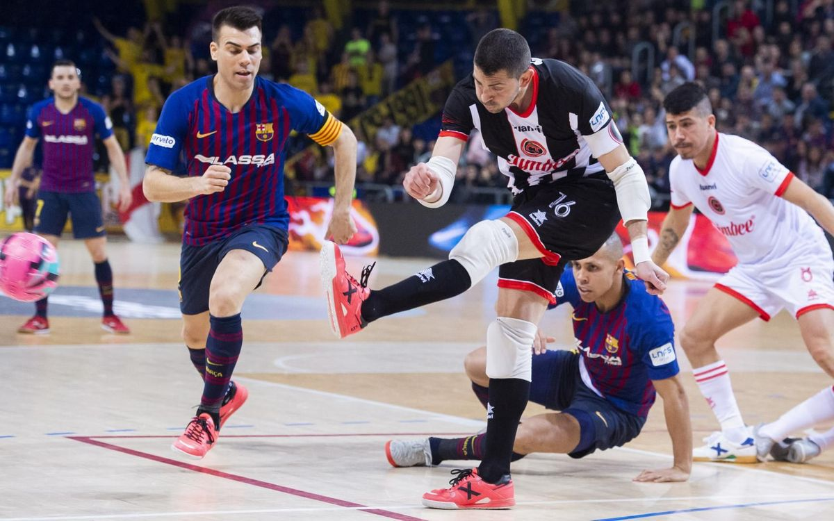 Barça Lassa - Jimbee Cartagena: Un último minuto muy cruel (4-5)