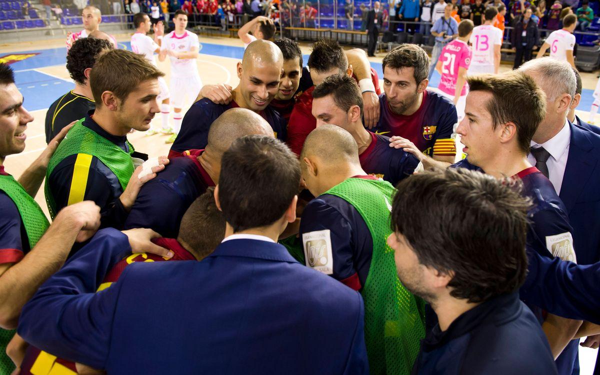 El Santiago futsal posa a prova el lideratge i el fortí del Barça Alusport al Palau