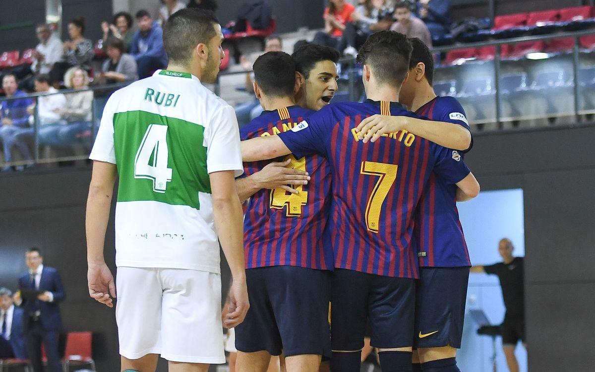 Barça Lassa B - Axa Hita Port Elche: Siguen en buena línea (4-3)