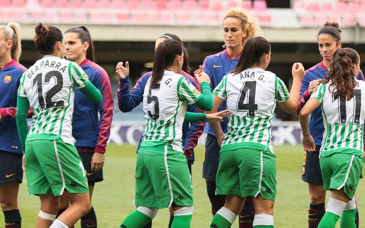 Betis – Barça Femení (prèvia): La pilota mana