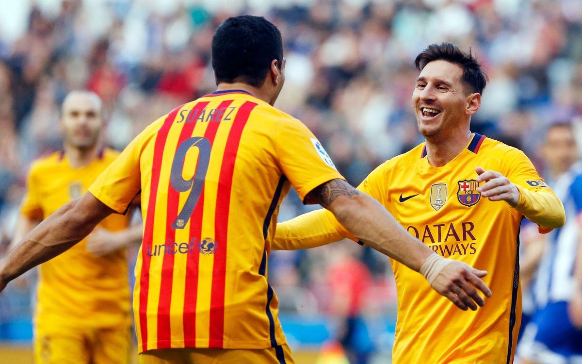 Messi i Suárez, nominats al premi de Millor Jugador d'Europa de la UEFA