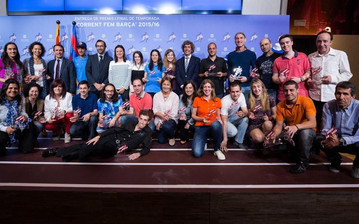Entregados los premios de la cuarta Liga 'Corrent fem Barça'