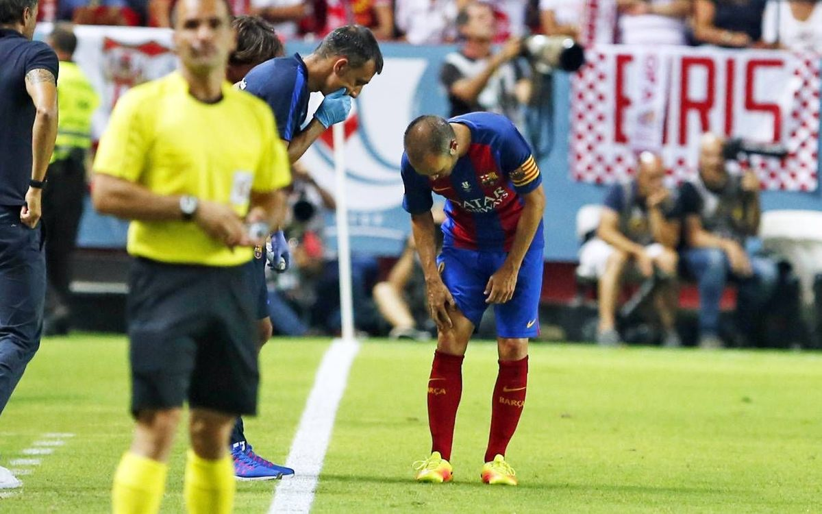 Medical report on injuries to Mathieu and Iniesta