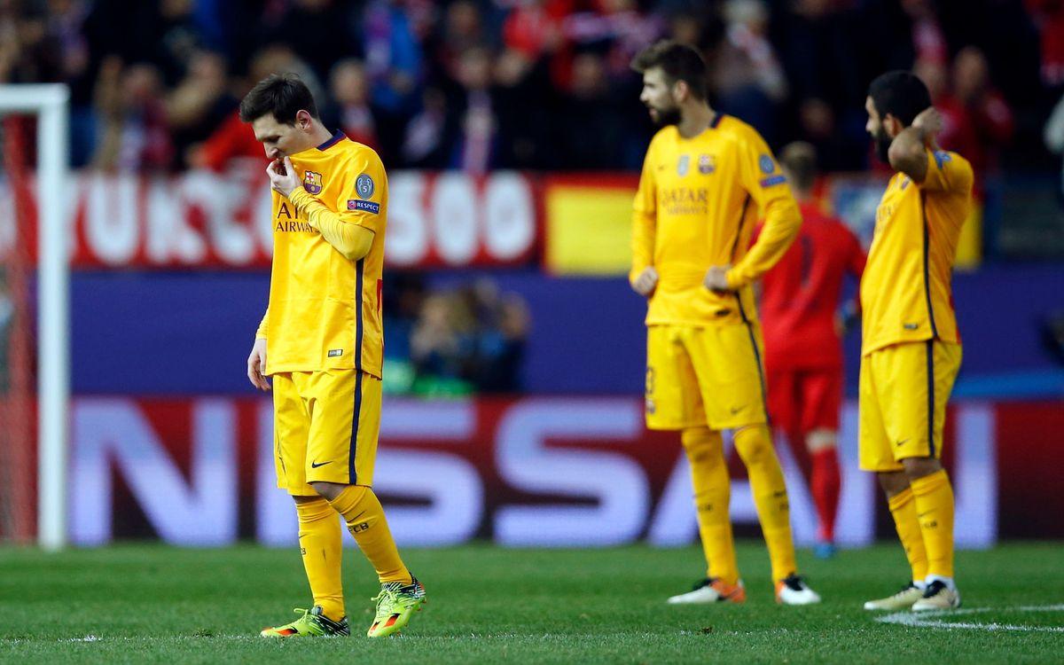Atlético de Madrid – FC Barcelona: Adiós a la Champions... Ahora la Liga y la Copa (2-0)