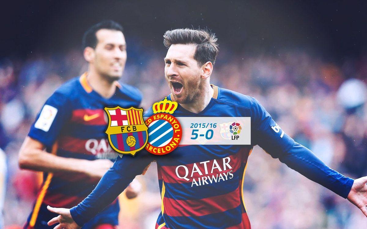 FC Barcelona: 5 - Espanyol: 0