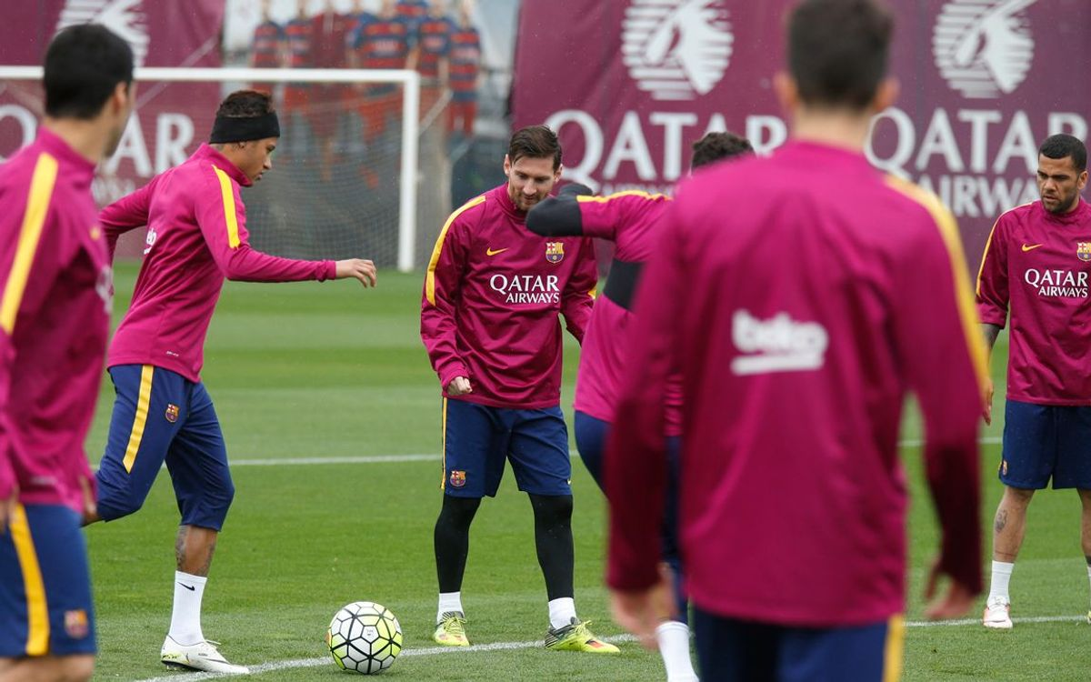 Final training session before the derby