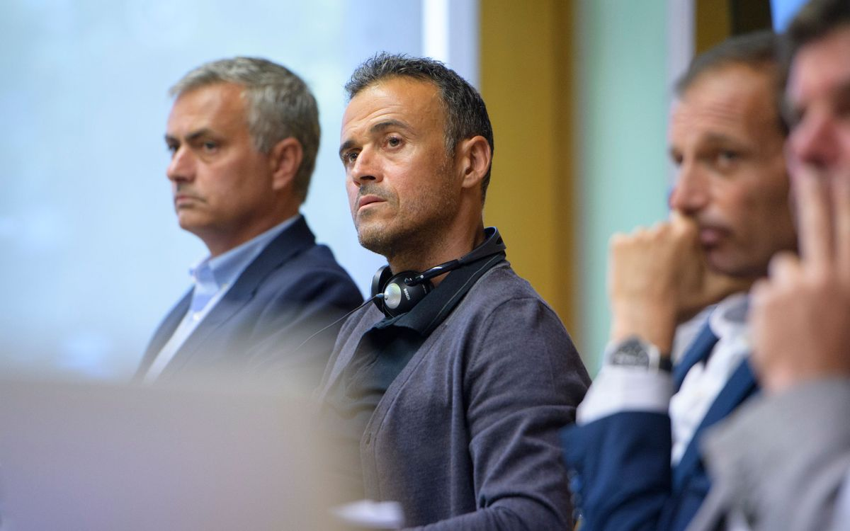 Luis Enrique attends UEFA Elite Club Coaches Forum
