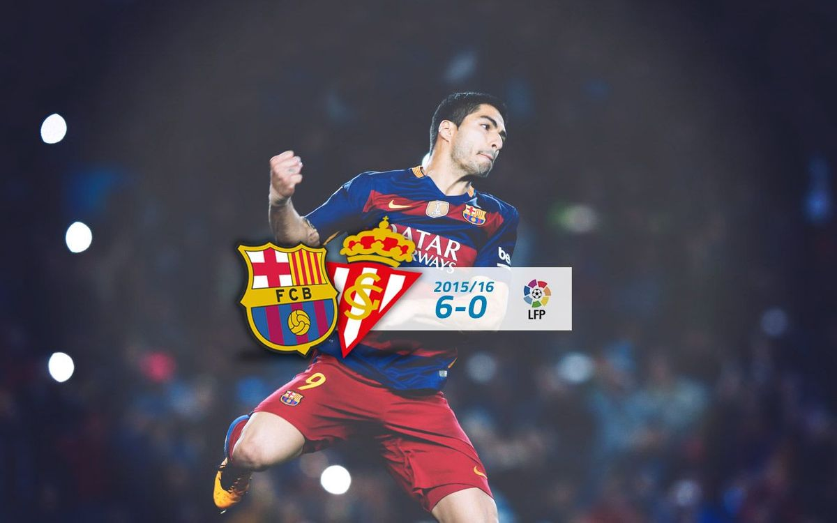 FC Barcelona: 6 - Sporting: 0