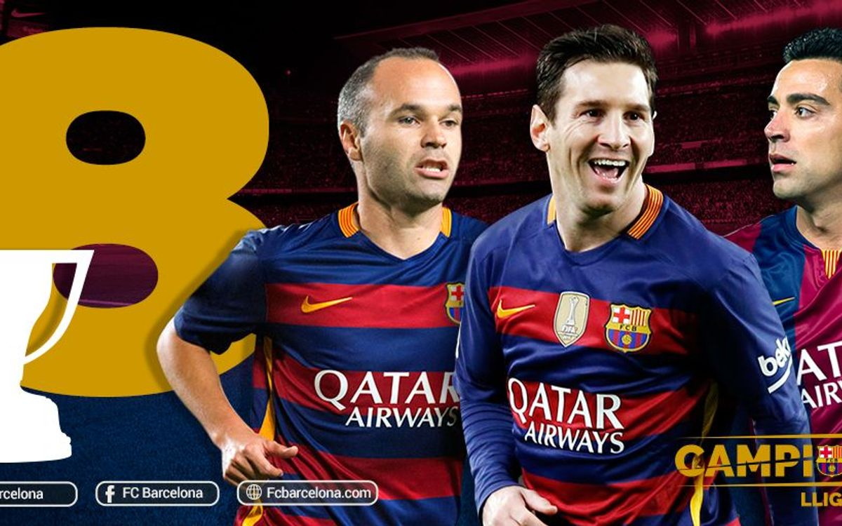 Eight league titles for Messi and Iniesta