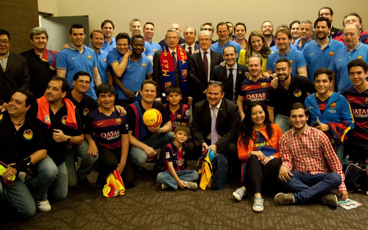 Cena de gala en México en homenaje a FCB Legends
