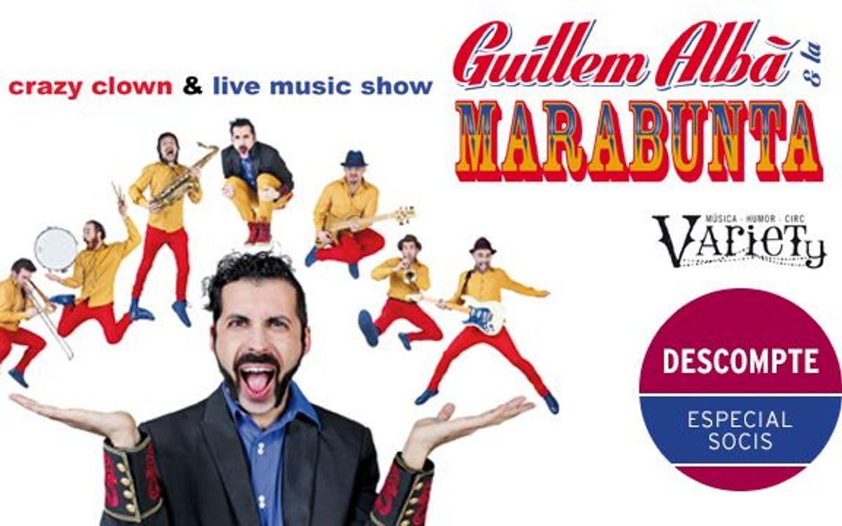 'Guillem Albà & La Marabunta', al Teatre Condal amb descompte especial per a socis