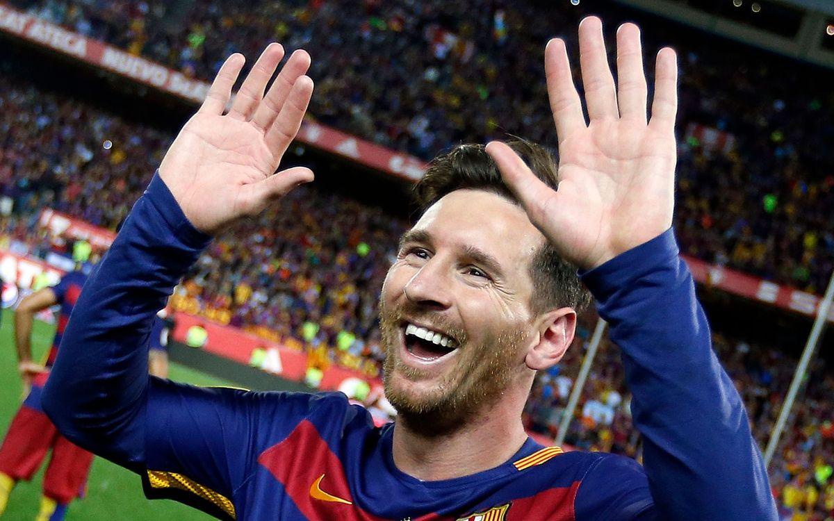 Leo Messi, ganador del 7º Premio Barça Jugadors