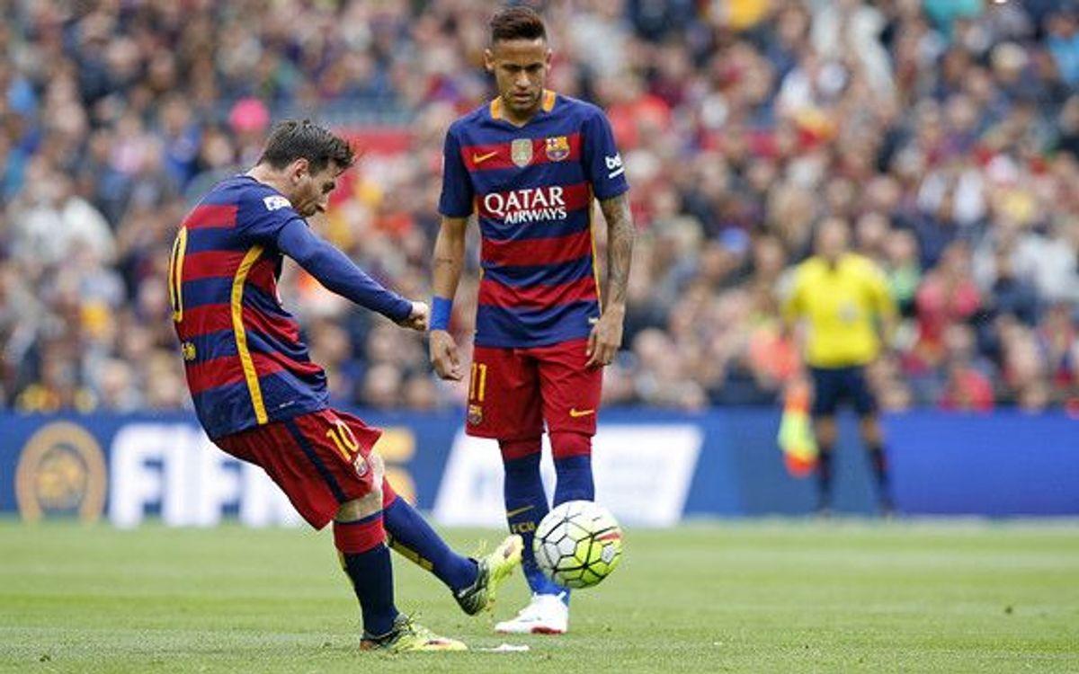 Leo Messi scores third-fastest ever hat-trick