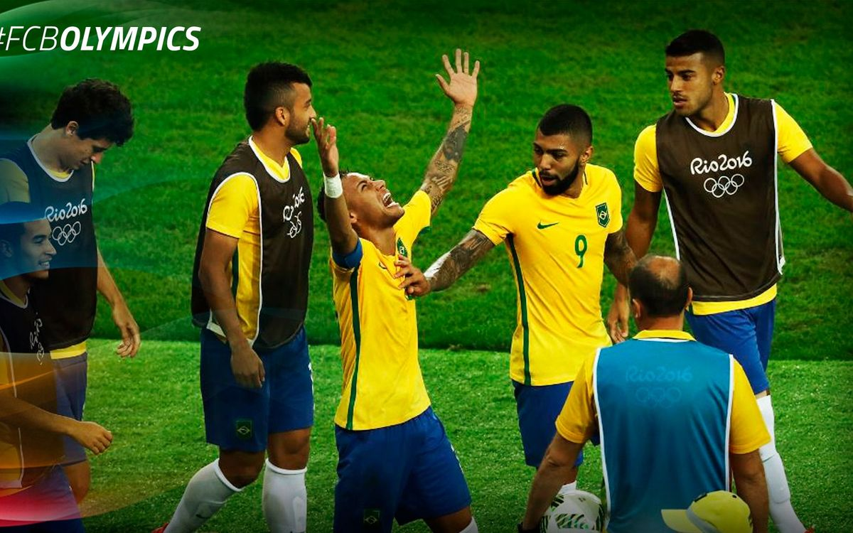 Neymar Jr and Rafinha win Olympic gold!